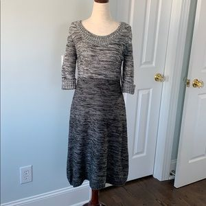 New Direction Marled Grey Sweater Dress, Sz M